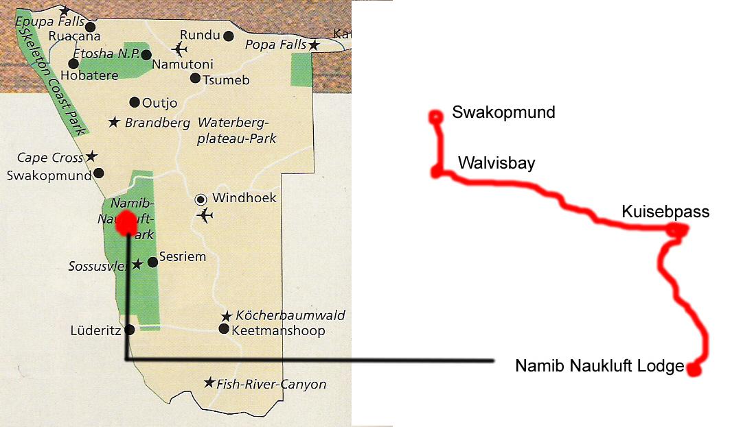 Namib Naukluft Lodge nach Swakopmund