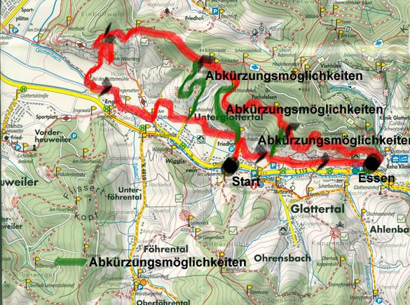 Karte Schwarzwald Zum Ausdrucken.Wandertage In Glottertal Schwarzwald Wanderfritz