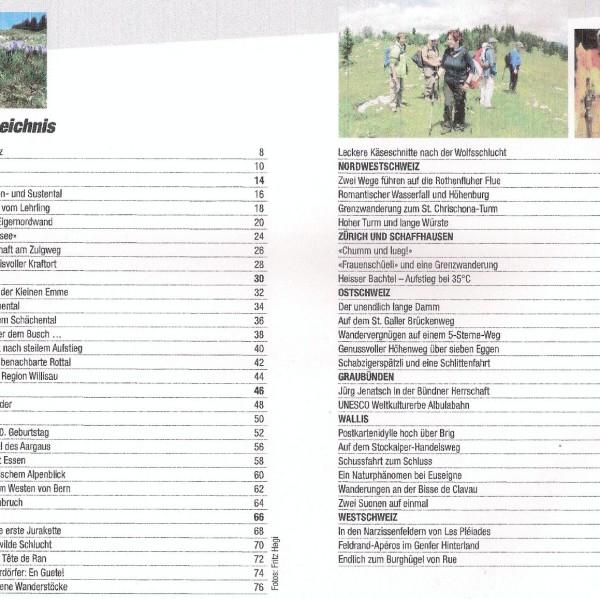Mit Wanderfritz durch die Schweiz Inhaltsverzeichnis