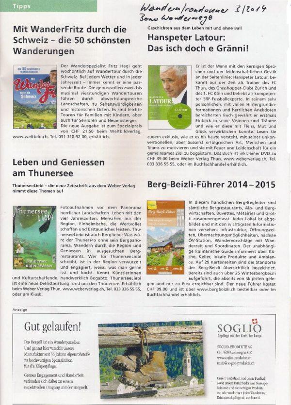 Wandern-Radonner - Mit WanderFritz durch die Schweiz - die 50 schönsten Wanderungen