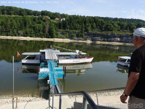 Beginn der Schiffahrt zum Saut du Doubs