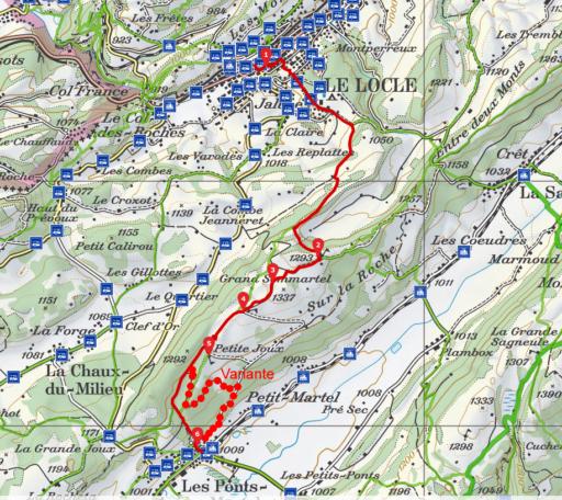 Route Le Locle - Les Ponts-de-Martel