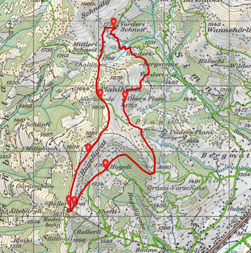 Routenplan_Rellerligrat