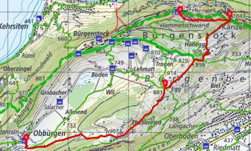 Obbürgen - Hammetschwand - Bürgenstock