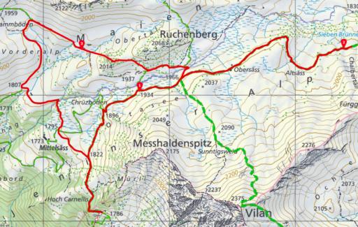 Route Aelpli - Siebenbrünnen - Aelpli