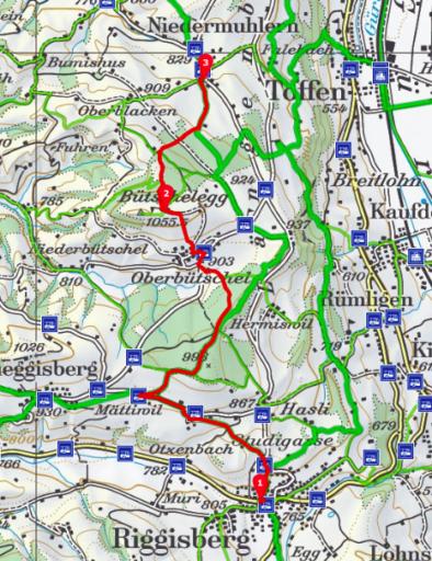Riggisberg - Bütschelegg - Niedermuhlern