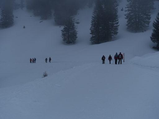 Schön präparierter Winterwanderweg