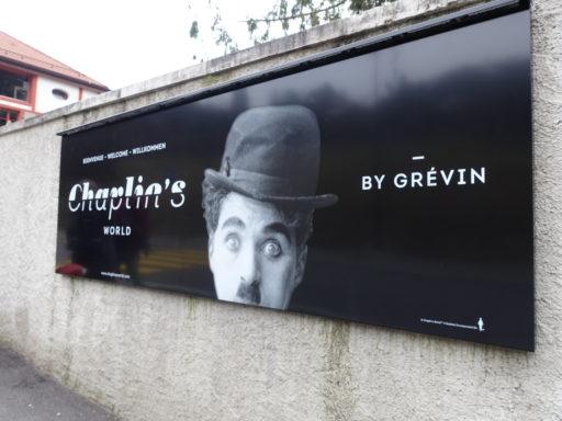 Beim Eingang von Chaplin's World