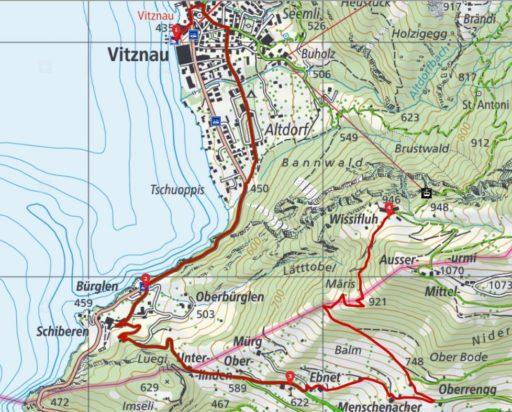 Route Vitznau - Wissifluh