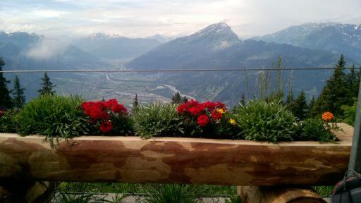 Aussicht vom Aelpli -Restaurant
