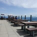 Terrasse im Selbstbedienungsrestaurant
