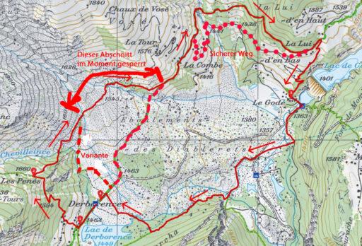 Route Derborance - Le Godé - Derborence