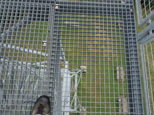 Auf der Plattform des Aussichtsturms Blueme