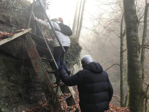 Steiler Aufstieg beim Mutzbachfall