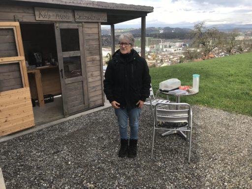 Die sehr freundliche Gastgeberin vom Hof Neufildern