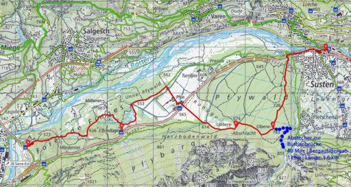 Route Leuk - Pfynwald - Sierre