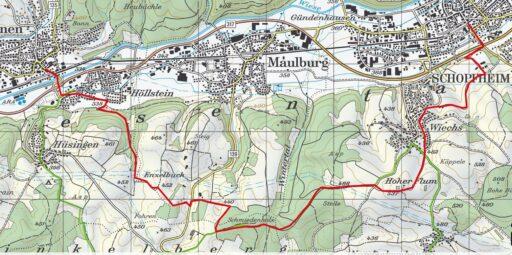 Markierter Weg vom Schwarzwaldverein