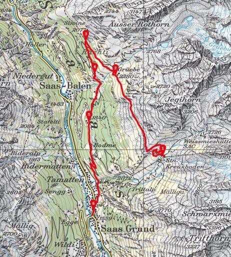 Route Kreuzboden