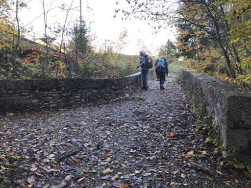 eine alte Steinbrücke von gegen 1500 16