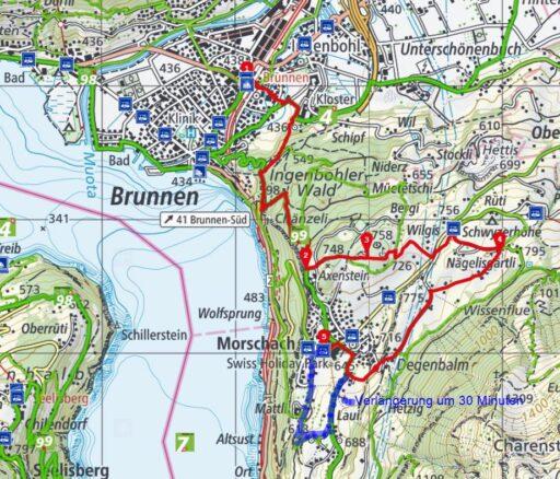 Route Brunnen - Schwyzerhöhe - Morschach
