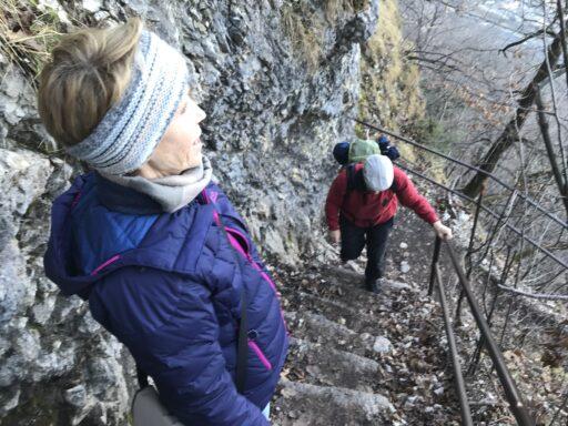Viele steile Treppen