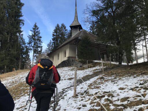 Aufstieg zur Kapelle