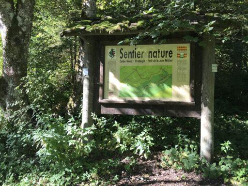Startpunkt zum Sentier Nature